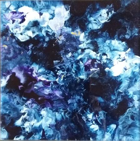 Michael Burges, Painting Studies, Reverse Glass No. 102 - 2017
