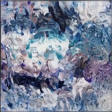 Michael Burges, Painting Studies, Reverse Glass No. 20 - 2018