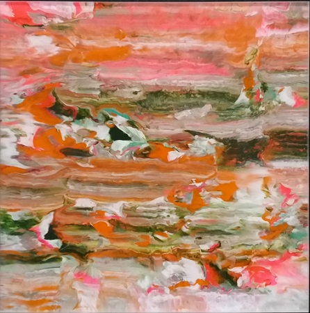 Michael Burges, Painting Studies, Reverse Glass No. 67 - 2018