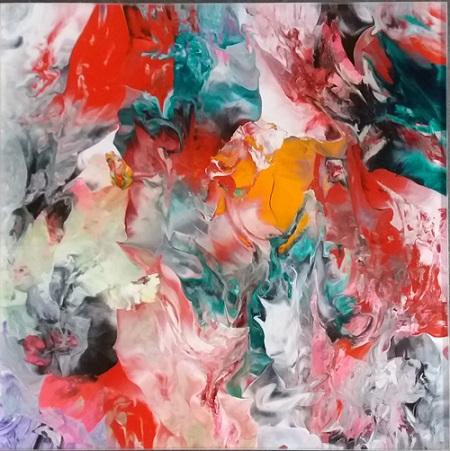 Michael Burges, Painting Studies, Reverse Glass No. 93 - 2016