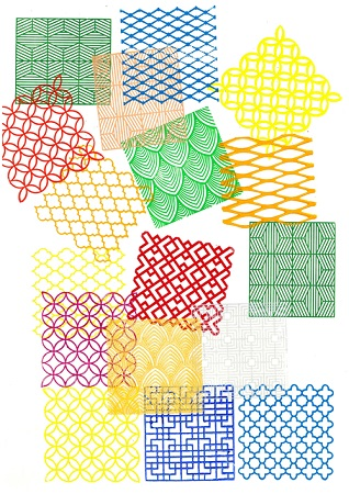 Nevin Aladağ, Edition für Goslar 2019, Stempel, Linoldruckfarben; No. 27
